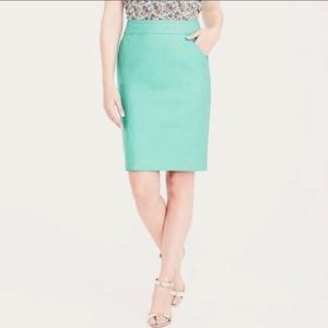 J.Crew Factory No.2  The Pencil Skirt in Mint